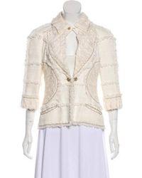 Chanel - Embellished Tweed Jacket Set Neutrals - Lyst