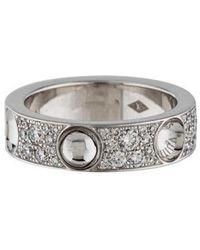 Louis Vuitton - 18k Diamond Empreinte Ring White - Lyst