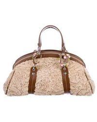 f55fb338cfe8 Lyst - Dior Vintage Medium Lady Bag Black in Metallic