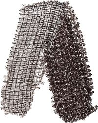 Marc Jacobs - Open Knit Embellished Scarf - Lyst