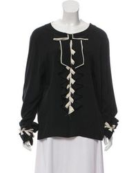Chanel - Pre-owned Black Silk Tops - Lyst