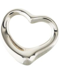 Tiffany & Co. - Open Heart Pendant Silver - Lyst