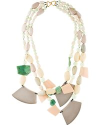 Alexis Bittar - Stone & Lucite Bead Strand Gold - Lyst
