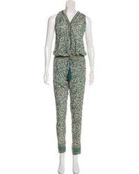 Talitha - Floral Print Mid-rise Jumpsuit - Lyst
