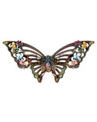 Erickson Beamon - Embellished Butterfly Brooch Gold - Lyst
