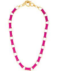 Diane von Furstenberg - Gabby Collar Necklace Gold - Lyst