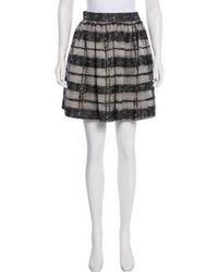 Wes Gordon - Striped Mini Skirt Grey - Lyst