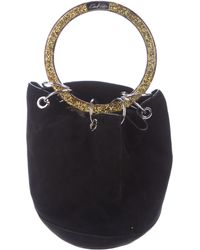 Edie Parker - Small Olivia Bucket Bag Black - Lyst