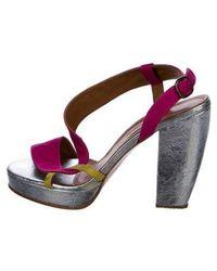 Rachel Comey - Round-toe Cutout Sandals Pink - Lyst