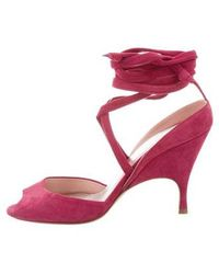 Alchimia Di Ballin - Suede Lace-up Sandals - Lyst