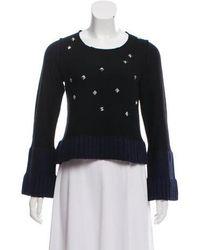 Sonia by Sonia Rykiel - Sonia By Rykiel Wool Embellished Knit Sweater - Lyst