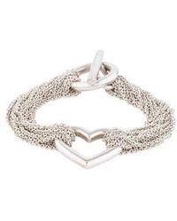 Tiffany & Co. - Mesh Heart Bracelet Silver - Lyst
