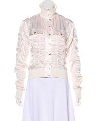 Dior - Vintage Ruched Silk Bomber - Lyst