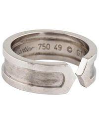 Cartier - Logo Ring White - Lyst