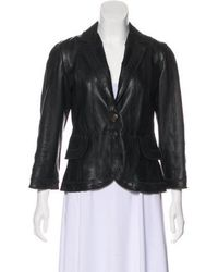 Just Cavalli - Textured Leather Jacket - Lyst