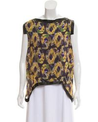Thakoon - Leather-trimmed Sleeveless Top - Lyst