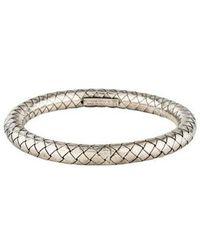 Bottega Veneta - Intrecciato Bracelet Silver - Lyst