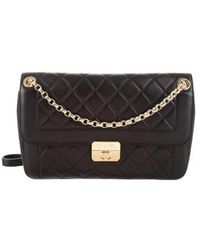 2dd91f8d5c74 Lyst - Chanel Classic Mini Square Flap Bag Black in Metallic