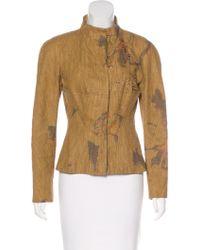 Christian Lacroix - Linen Embellished Jacket Tan - Lyst