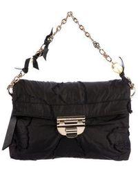 Nina Ricci - Raw-edge Flap Bag Black - Lyst