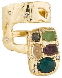 Alexis Bittar - Multistone Slab Double Banded Ring Gold - Lyst