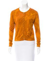 John Galliano - Silk Knit Cardigan Orange - Lyst