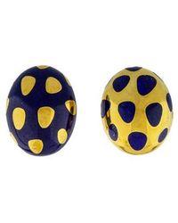 Tiffany & Co. - 18k Positive Negative Polka Dot Earrings Yellow - Lyst
