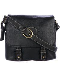 Ghurka - Leather Messenger Bag Black - Lyst