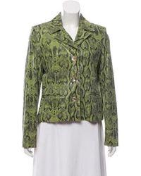 Helen Yarmak International - Leather Button-front Jacket Olive - Lyst