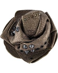 Brunello Cucinelli - Studded Floral Brooch Gold - Lyst