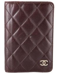 Chanel - Quilted Mini Agenda Cover Brown - Lyst