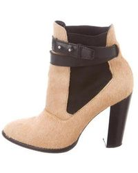 Elizabeth and James - Pointed-toe Ankle Boots Tan - Lyst
