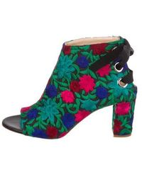 Jerome C. Rousseau - Crayon Embroidered Ankle Boots W/ Tags - Lyst