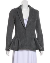 Antonio Berardi - Virgin Wool Structured Jacket W/ Tags Grey - Lyst