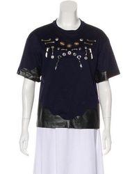 Toga Pulla - Embellished Short Sleeve Top Navy - Lyst