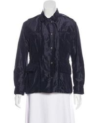 Bottega Veneta - Silk Collared Jacket Navy - Lyst