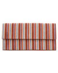 Diane von Furstenberg - Striped East West Clutch W/ Tags Orange - Lyst