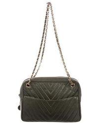 8902de4c28e0 Lyst - Chanel Vintage Classic Square Mini Flap Bag Navy in Metallic