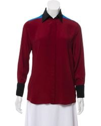 Jonathan Saunders - Colorblock Button-up Top - Lyst