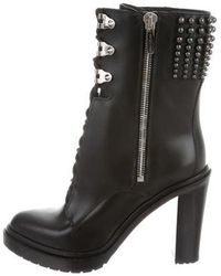 Sergio Rossi - Embellished Ankle Boots - Lyst