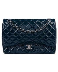 75ff793eb563 Lyst - Chanel Classic Maxi Double Flap Bag Silver in Metallic