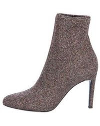 f78b6d6477a12 Lyst - Giuseppe Zanotti Glitter Sock Booties in Metallic