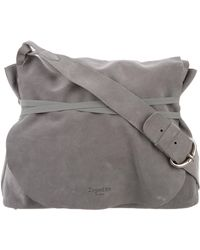 Repetto - Suede Messenger Bag Grey - Lyst