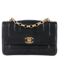 Chanel - Vintage Quilted Mini Flap Bag Black - Lyst