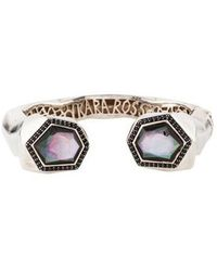 Kara Ross - Mother Of Pearl & Sapphire Nugget Kick Cuff Silver - Lyst