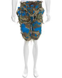 Bernhard Willhelm - Raw-edge-trimmed Camouflage Shorts - Lyst
