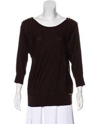 MICHAEL Michael Kors - Michael Kors Crew Neck Long Sleeve Sweater W/ Tags Gold - Lyst