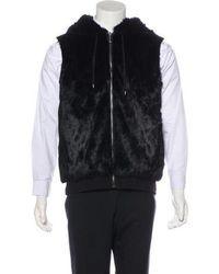 Michael Kors - Rabbit Fur Hooded Vest W/ Tags - Lyst