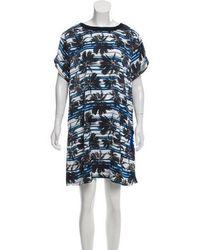 L'Agence - Palm Tree Print Mini Dress - Lyst