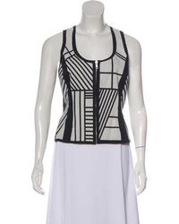 Jonathan Saunders - Sleeveless Printed Top Black - Lyst